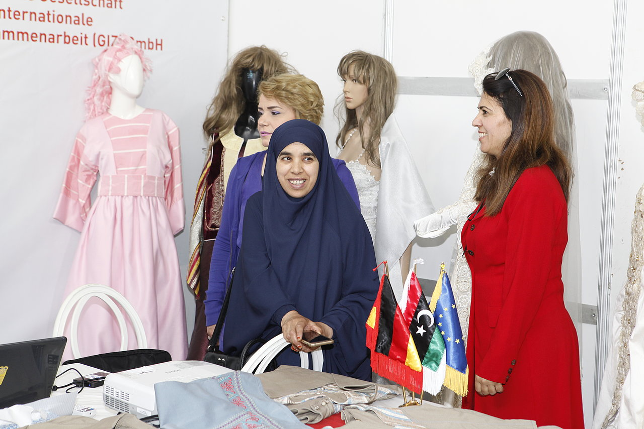 Photo: GIZ: International textile fair