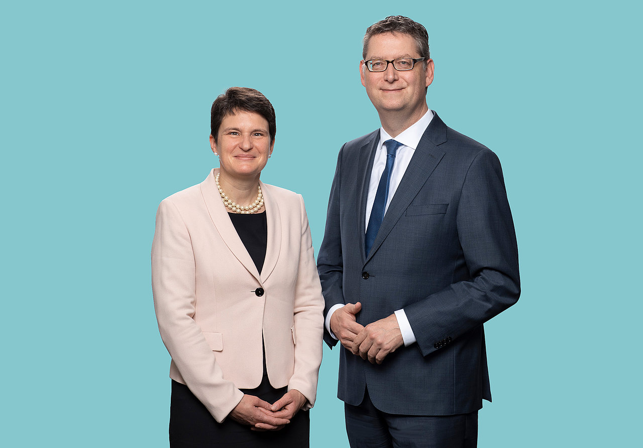 Photo: GIZ: Tanja Gönner, speaker of the board and Thorsten Schäfer-Gümbel, member of the board